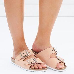 """Topshop """"Birkenstock"""" leather sandals, size 38"""